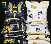 University Of Michigan Wolverines Cornhole Bean Bags Tailgate Game 8 Aca Bags