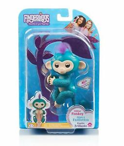 WowWee-Quincy-Fingerlings-Glitter-Monkey-Interactive-Baby-Pet-Teal-Exclusive