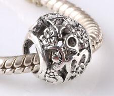 hot 5pcs retro Tibetan silver big hole beads fit Charm European Bracelet #A600