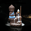 Incense-Holder-Censer-Waterfall-Meditating-Monk-Buddha-Smoke-Backflow-Cone miniatuur 1