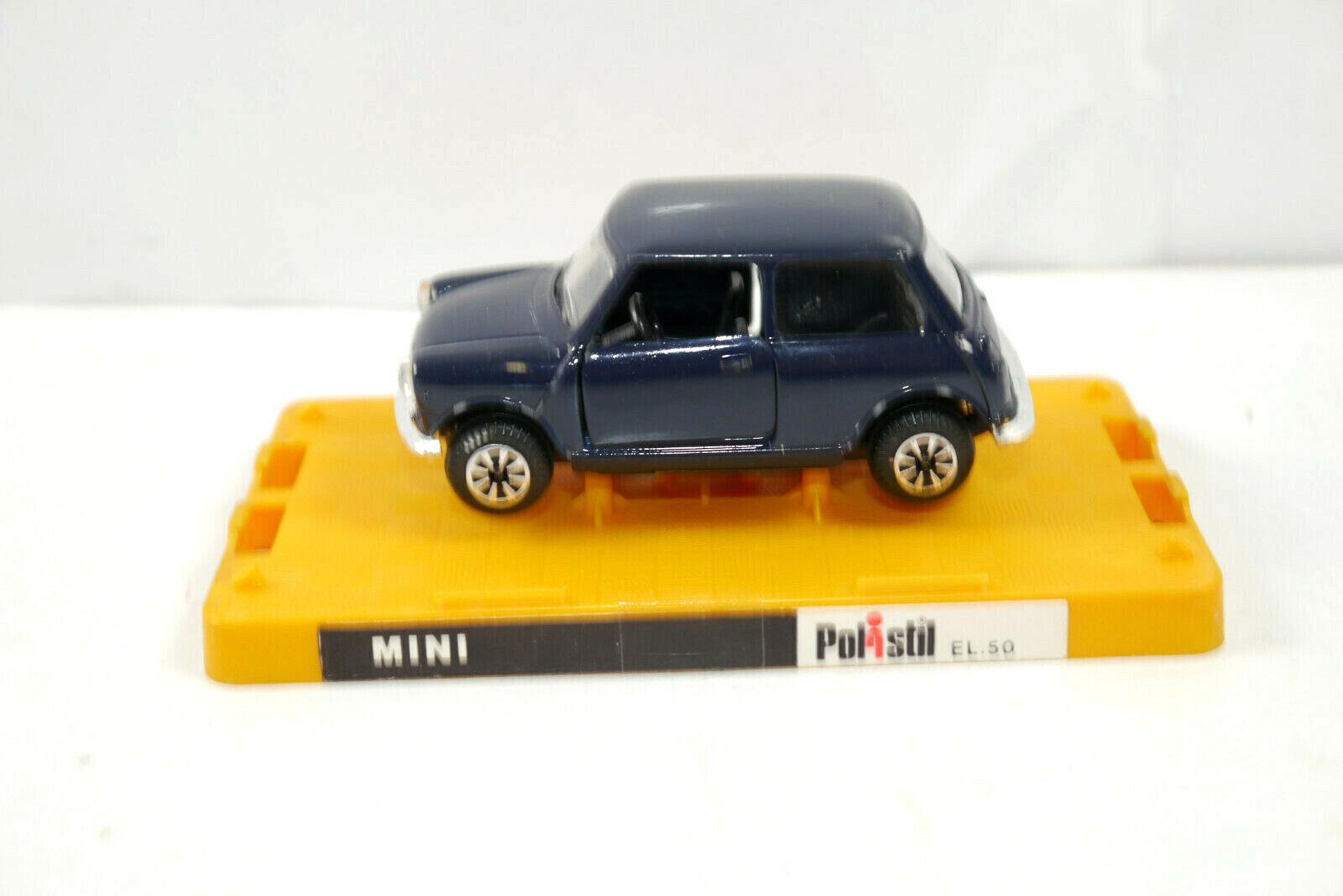 POLISTIL POLISTIL POLISTIL EL.50 Mini Cooper dunkelblue Modellauto MADE IN ITALY 1 43 (K37)  D 578956
