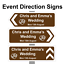 Personalised-Wedding-ring-Direction-Sign-Road-Sign-names-event-amp-date-Correx thumbnail 1