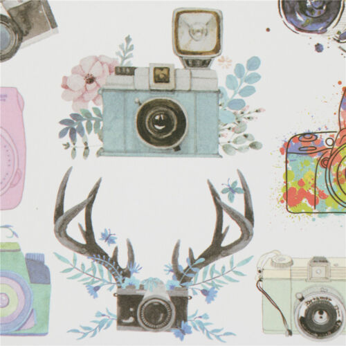 camera adhesive paper sticker diy gift card photo scrapbook diary decor  LX ME