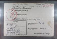 Camp Stalag XIIIC Hammelburg 1941 POW Prisoner Belgium Kriegsgefangenenpost K9b