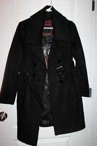Frakke Knap York Blend Medium Runway Noir Blanc uld Størrelse New Dobbeltbrystet 8RgCqW