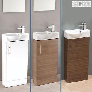 Image Is Loading 400mm Modern Compact Minimalist Bathroom Vanity Basin Sink