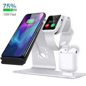 f r iphone xs max apple watch samsung note 9 qi wireless ladestation dock pad ebay. Black Bedroom Furniture Sets. Home Design Ideas