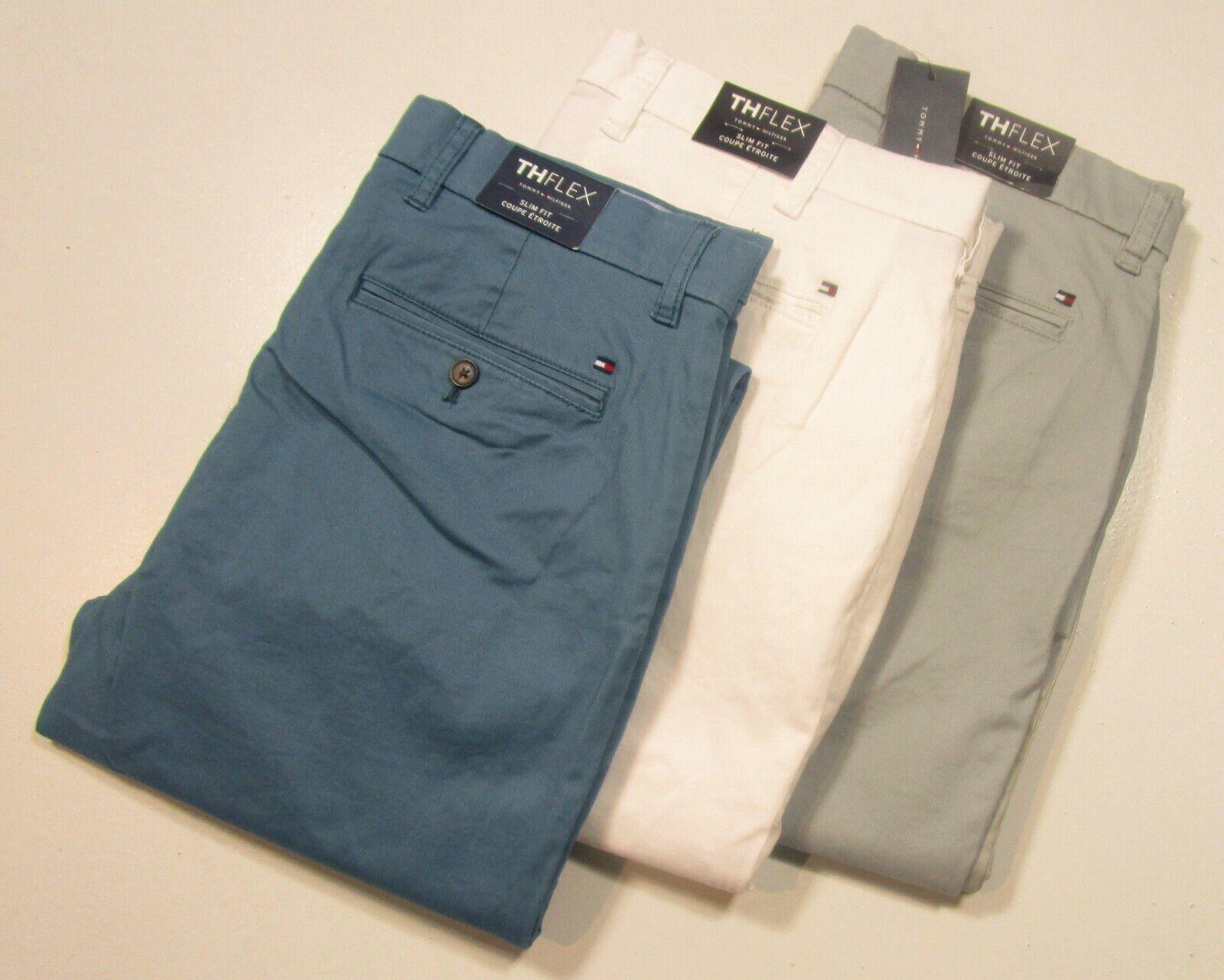 cozy fresh online here online for sale Tommy Hilfiger Men's TH Flex Slim Fit Chino Pants - 3 Colors ...