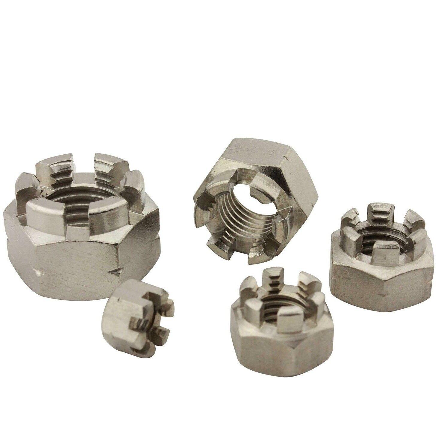 Kronenmutter Sicherungsmutter DIN 935   ISO 7036 Edelstahl A2 (V2A) Regelgewinde