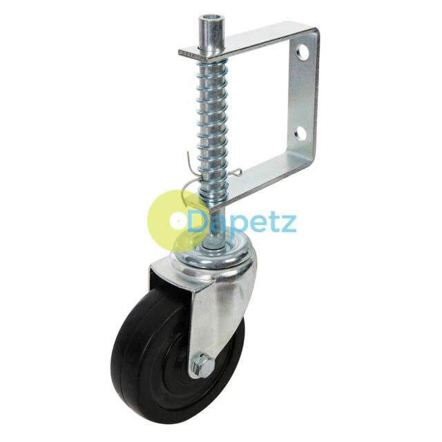 "4/"" 1 x Spring Loaded Gate Jockey Wheel Swivel Castor 100mm Diameter up to 57kg"