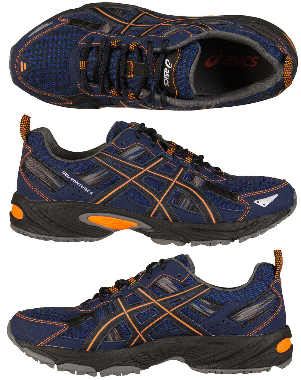 Asics Gel-Venture 5 Mens Boys Trail Running shoes Trainers Sports New Boxed