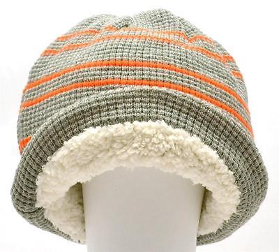 Winter Urban Pipeline Men Women Waffle Beanie Gray Orange Stripe Hat 1Size 0027