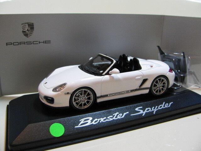 1 43 Minichamps Porsche Boxster Spyder (2010) Diecast (versión del distribuidor)