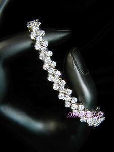 Bridesmaid-Prom-Simulated-Russian-Diamond-Bridal-White-Gold-Filled-Bracelet-b168
