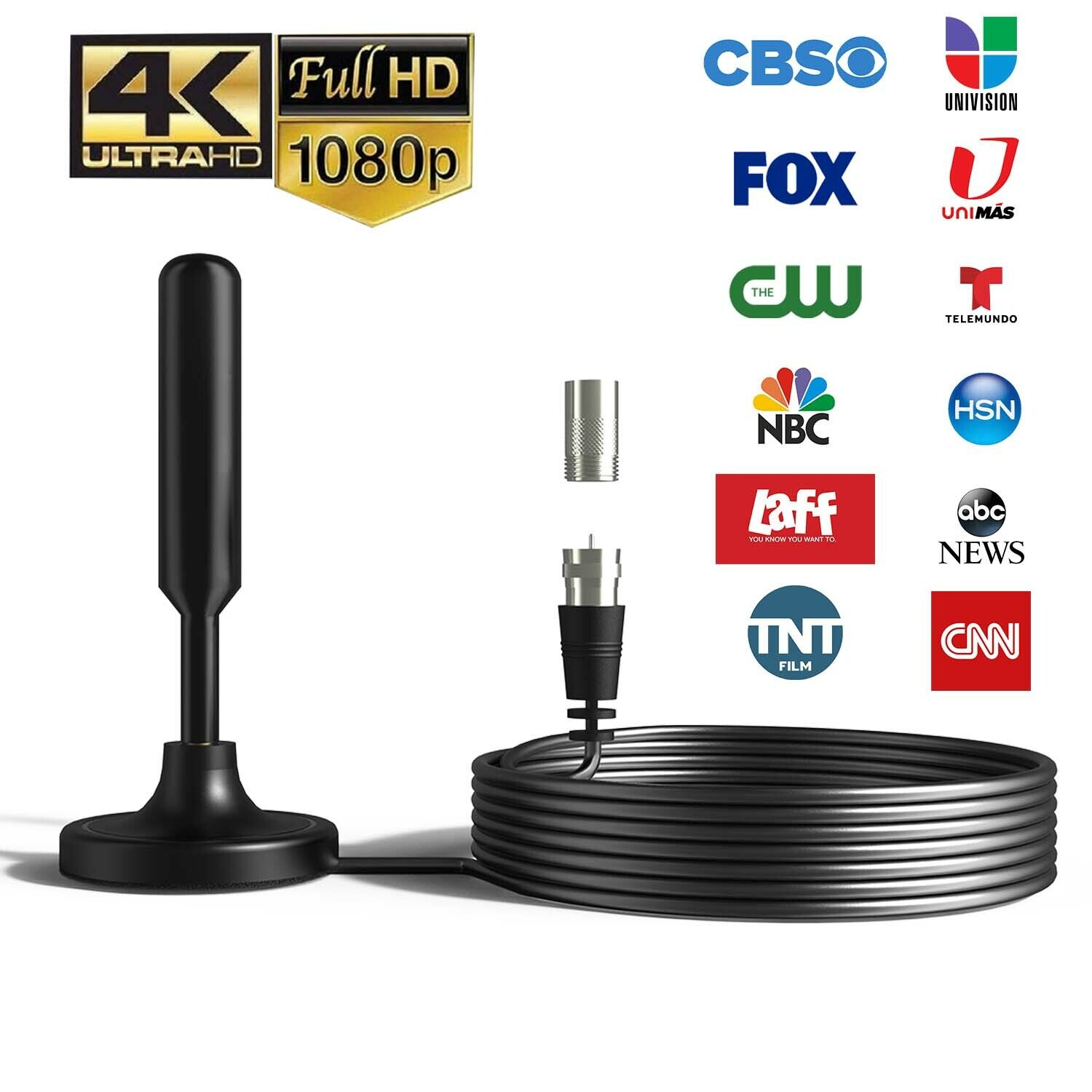 Upgraded TV Antenna HDTV Amplified Digital TV Antenna 4K 1080P Long Range Indoor. Available Now for 9.95