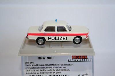 Sondermodell 24414-1:87 rot Brekina BMW 2000 Polizei Solothurn// Schweiz