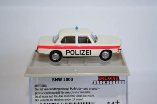 bianco//arancio NUOVO Brekina 24414-1//87 BMW 2000-polizia Zuchwil
