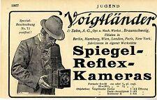 Spiegel- Reflex- Kameras Braunschweig, Voigtländer & Sohn Histor. Werbung 1907