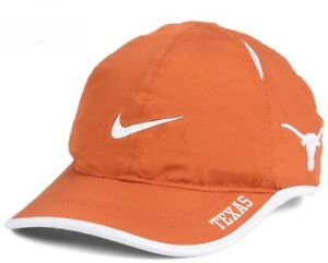buy online 4fcd3 496aa Image is loading Brand-New-Texas-Longhorns-Nike-Featherlight-Adjustable-Hat-