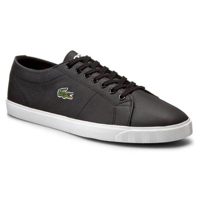 Zapatos de Cuero Lacoste Hombre Marcel riberac LCR3 SPM Zapatillas-Negro