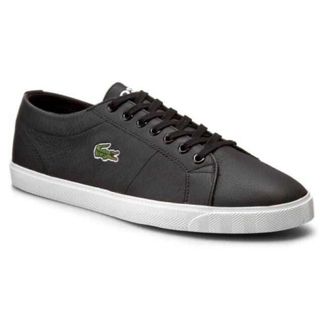 24929db8bc5d03 Lacoste Men s Marcel Riberac LCR3 SPM Leather Shoes Trainers - Black