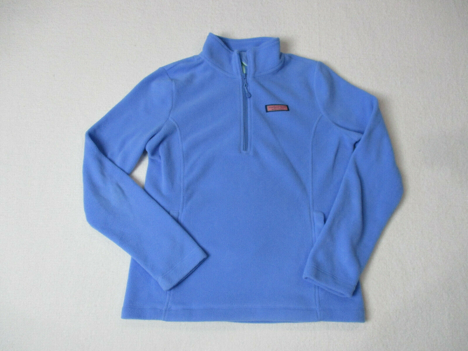 Vineyard Vines Quarter Zip Sweater Womens Extra Small Light bluee Whale Ladies