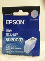 EPSON (SO20093) Black Ink Cartridge - 1 Box - New Sealed Box