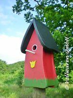 Original Die Vogelvilla Nistkasten Tulpe Rot Nisthöhle Vogelhaus