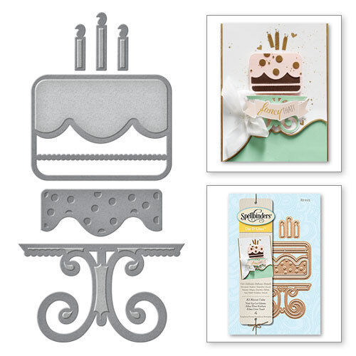 CUT EMBOSS STENCIL S3-225 SPELLBINDERS ALL ABOUT CAKE D-LITES  DIE CUTTING SET