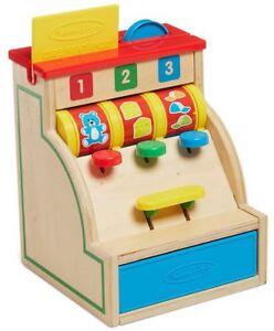 Melissa & Doug Kasse aus Holz Rollenspiel Kaufladen Kinder Spielzeug Neu