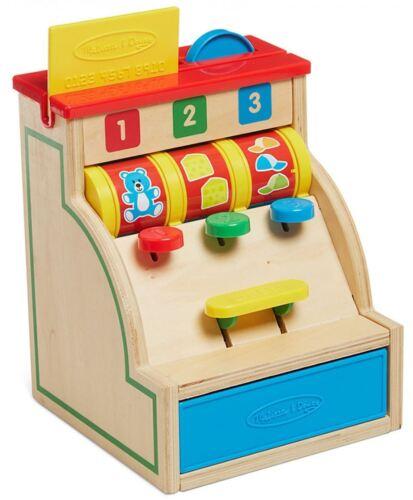 Melissa & Doug Kasse aus Holz Rollenspiel Kaufladen Kinder Spielzeug Neu Spielzeug Holzspielzeug