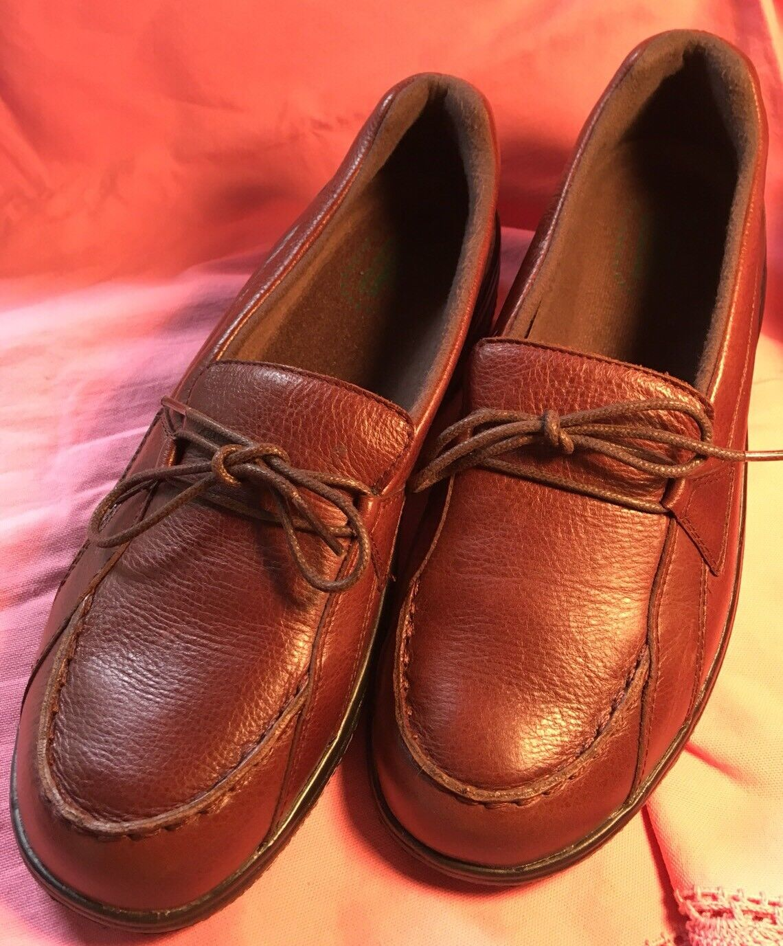 Propet 10 Brown Shock Absorber Slip On Leather Walking shoes NWOT Light Weight