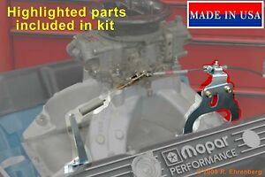 for-Mopar-440-High-Rise-Intake-Accelerator-Cable-Bracket-Mounting-Kit-Dodge-Plym