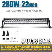 6D PHILIPS 22INCH 280W LED WORK LIGHT BAR SPOT & FLOOD COMBO BEAM 4X4WD ATV 20""