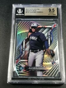 GLEYBER-TORRES-2018-TOPPS-HIGH-TEK-GALACTIC-WAVE-ROOKIE-RC-BGS-9-5-POP1-1-1