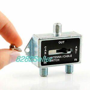 2 Way A B Coax Rf Switch Splitter Manual Selector Cable Tv