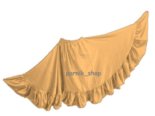 12 Yard Flamenco Satin Skirt Belly Dance Gypsy Tribal Ruffle Costume Jupe ATS