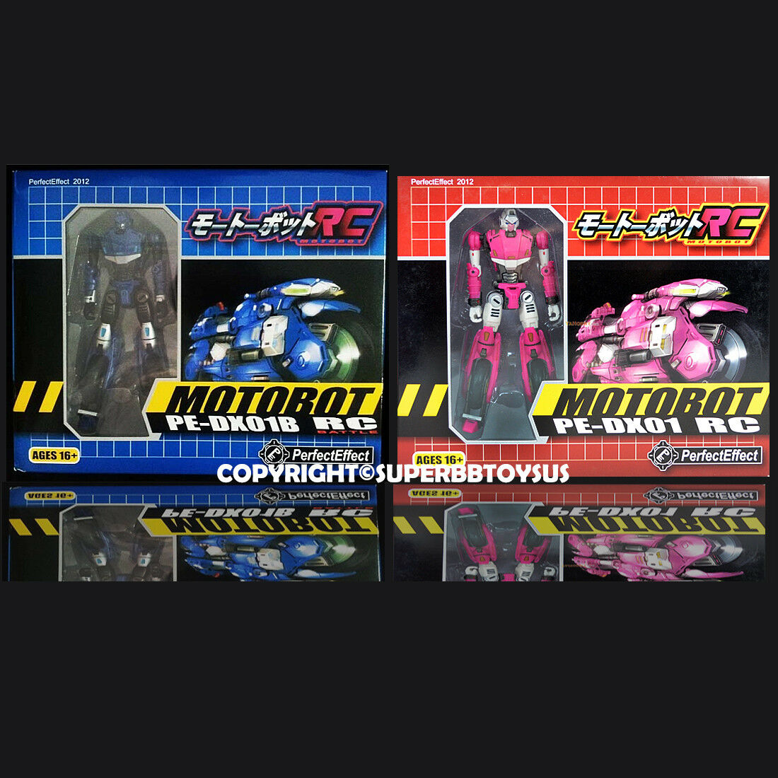 Transformers G1 Perfect Effect PE-DX01 RC Motorcycle Pink & bluee Version NEW