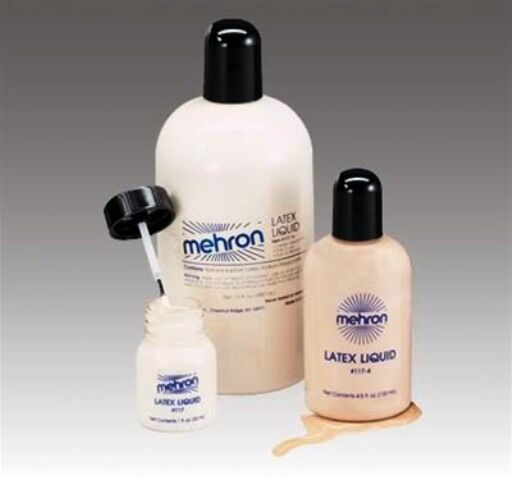 MEHRON LIQUID LATEX CLEAR FLESH BEIGE LIQUID LATEX MAKE UP 1OZ 4.5OZ 9OZ 16OZ