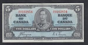 1937-CANADA-5-DOLLARS-BANK-NOTE-COYNE
