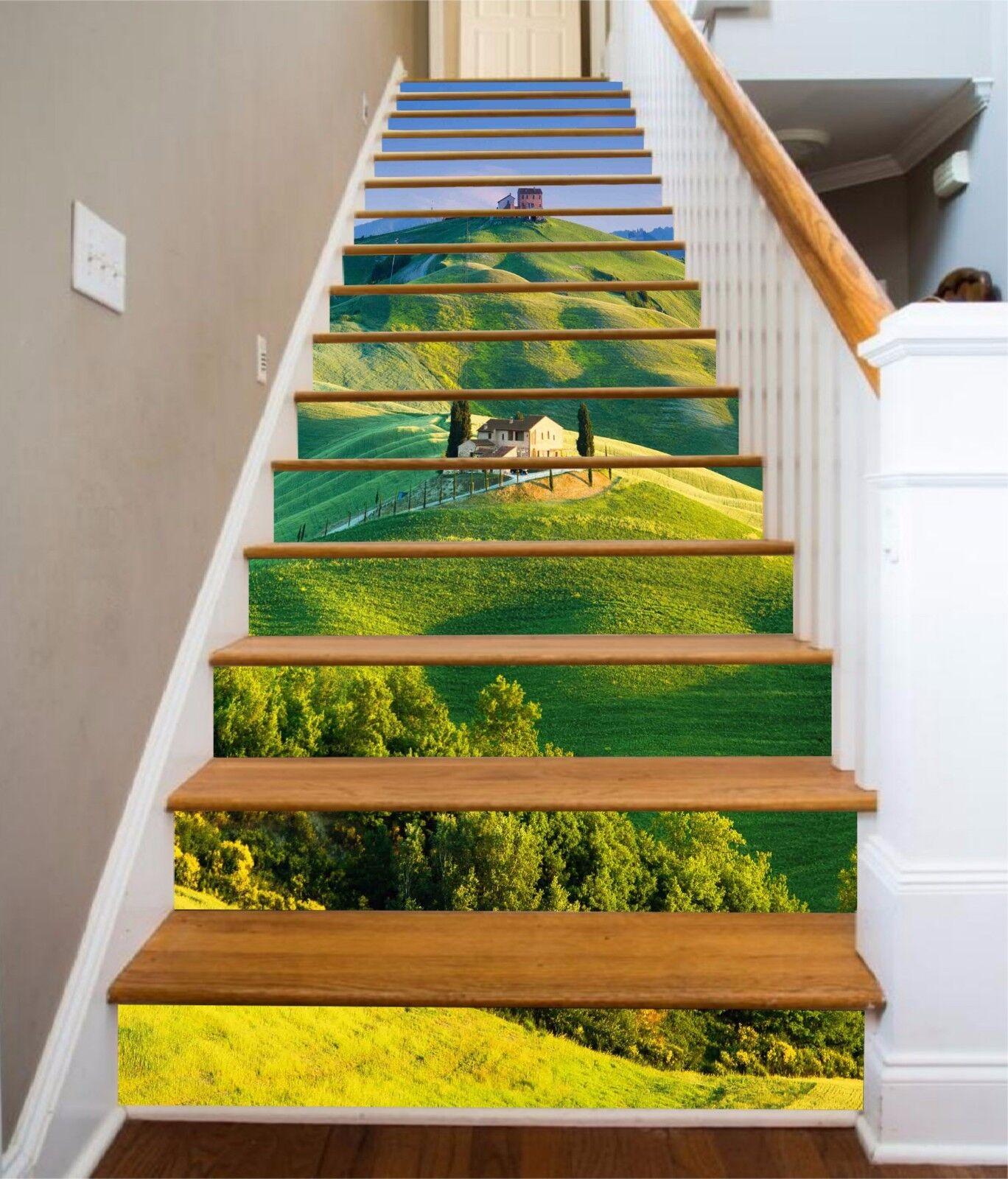 3D House Grassland 6374 Risers Decoration Photo Mural Vinyl Decal Wallpaper CA