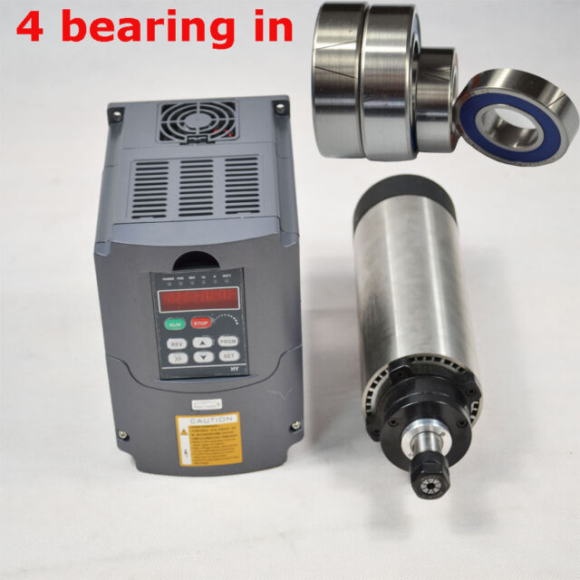 0.8KW AIR-COOLED SPINDLE MOTOR ER11 FOUR BEARING AND 1.5KW DRIVE VFD INVERTER
