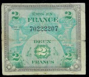 MILITARY-CURRENCY-WWII-gt-gt-2-DEUX-FRANCS-gt-gt-30983044