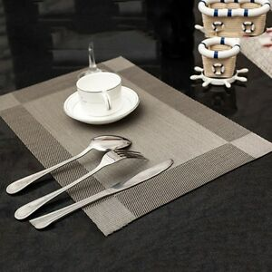 New Tableware Placemats Insulation Dinner Table Mats PVC Waterproof Dining Pad