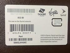 SPRINT Nano SIM CARD SIMGLW426C 63.06