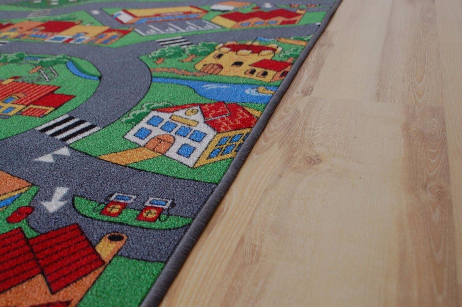 Straßenteppich Spielteppich Bauernhof Bauernhof Bauernhof 200x580 cm d3352b