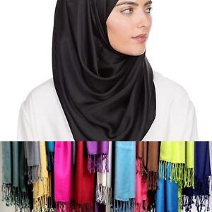 Ladies-WIDE-Plain-Viscose-Rayon-Large-Maxi-Scarf-Hijab-Shawl-Pashmina-233-grams