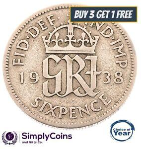 1937-a-1952-george-vi-silver-sixpences-choix-de-l-039-annee-date