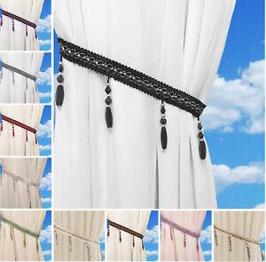 Beaded-Gem-Tiebacks-Voile-Curtains-Tie-Back-Braid-Holdbacks