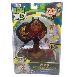 Ben 10 Micro Heatblast Playset 2-IN-1 Omnitrix Cartoon Network Playmates Toys